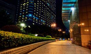 城市建筑物与绿化设施摄影高清图片
