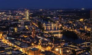 德国法兰克福繁华风光摄影高清图片