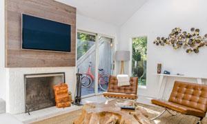 阁楼房间沙发家具陈设摄影高清图片