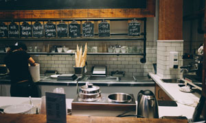 甜品店操作间内景装饰摄影高清图片