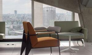 高层建筑房间沙发家具摄影高清图片
