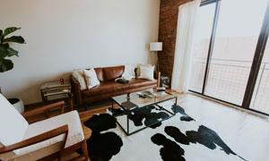 客厅沙发茶几家具摆放效果高清图片