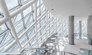 大型建筑内景一角风光摄影高清图片