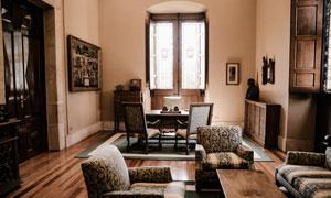 房间欧式风格摆设布置摄影高清图片