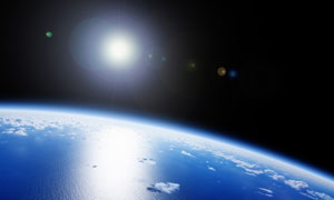 外太空視角看到的地球攝影高清圖片