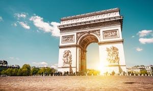 巴黎凯旋门景观摄影图片