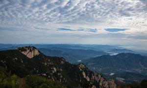 泰山山顶美丽风光摄影图片