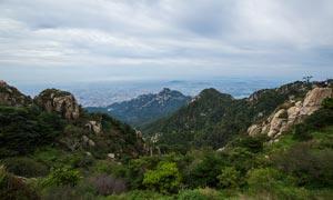 泰山山巅美丽风光摄影图片