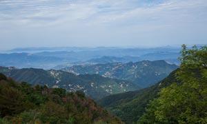 泰山山顶美丽风光高清摄影图片