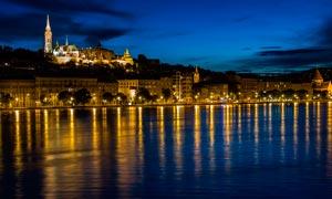 河边美丽的城市夜景摄影图片