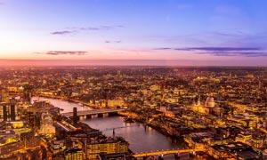 壮观的城市夜景高清摄影图片