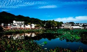 诸葛八卦村古镇风景摄影图片