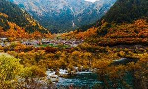 九寨沟秋季美景高清摄影图片