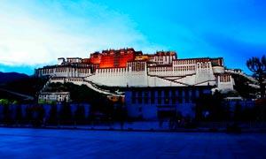 布达拉宫美丽夜景高清摄影图片