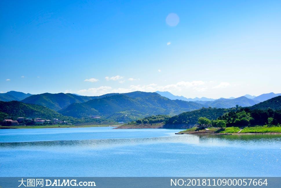 北京金海湖美丽风光摄影图片