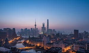 上海外滩美丽夜景高清摄影图片