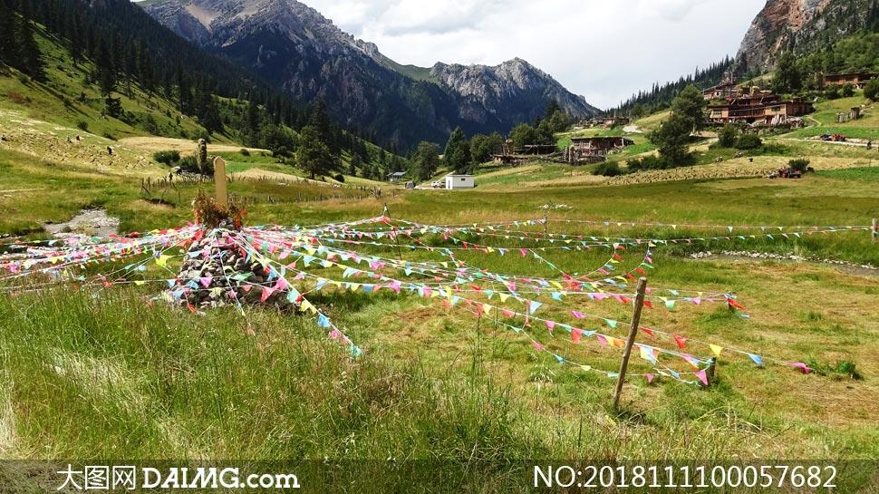 西藏草原美丽风光摄影图片