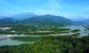 美丽都江堰全景摄影图片