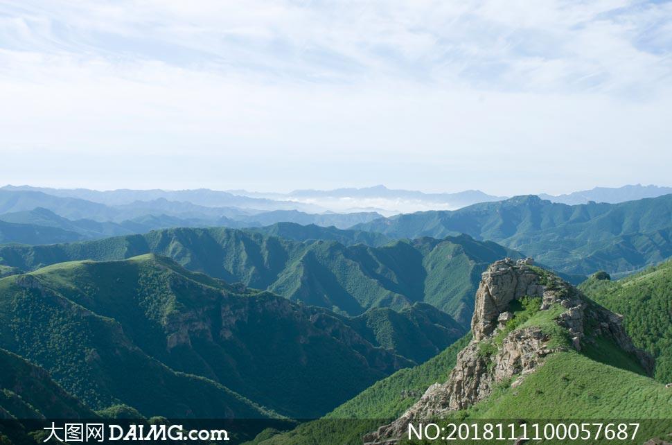 蔚县美丽的山峰美景摄影图片