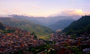 貴州千戶苗寨村落景觀攝影圖片