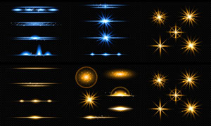 星光光源元素主题创意设计矢量素材