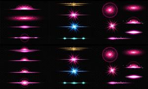 粉红色的光效元素创意设计矢量素材