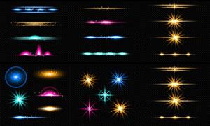 炫丽缤纷星光元素主题创意矢量素材