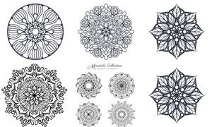 几何中心对称效果花纹图案矢量素材