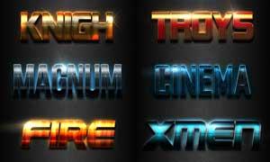 10款金属磨砂艺术字设计PS样式V2