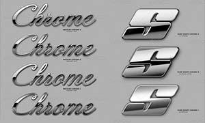 银色质感艺术字设计PS样式