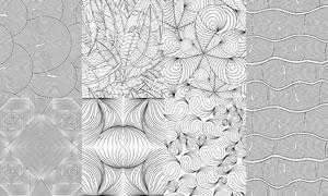 无缝四方连续线条效果图案矢量素材