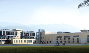 郊外公司建筑渲染效果高清图片素材