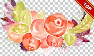 樱桃与蓝莓草莓等水果免抠图片素材