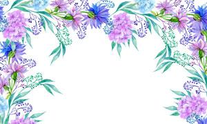 花卉植物水彩手绘创意设计高清图片