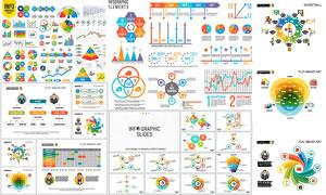 多款实用数据统计图表设计矢量素材