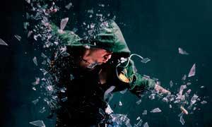 创意的玻璃碎片装饰特效PS动作