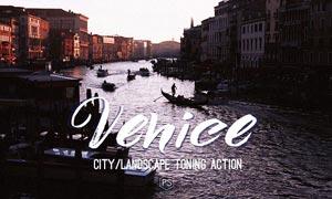 中文版威尼斯旅游照片PS调色动作