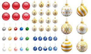 多款圣诞节日挂球主题元素矢量素材