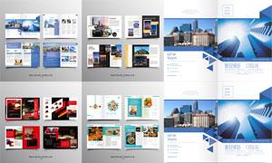 食品汽车与房地产画册设计矢量素材