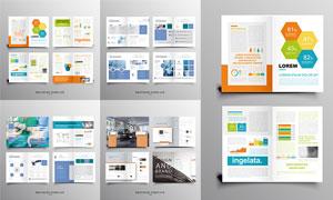 多用途企业适用的画册设计矢量素材