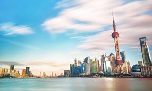 上海外滩美丽风光全景摄影图片