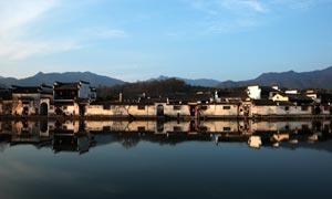 安徽美丽的宏村景色摄影图片