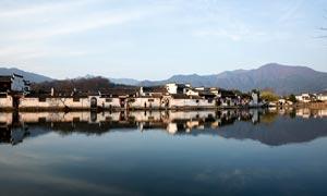 美丽宏村古镇风光高清摄影图片