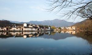 宏村美丽的古镇风景摄影图片