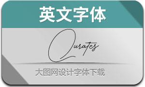 QuratesSignatureTwo(英文字体)