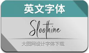 Sloothine(英文字体)