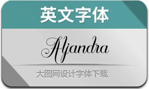 Aljandra(英文字体)