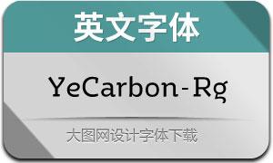 YeCarbon-Regular(英文字体)