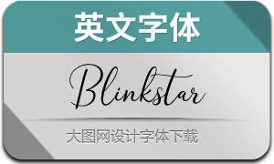 Blinkstar系列三款英文字體