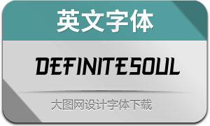 DefiniteSoul(英文字体)